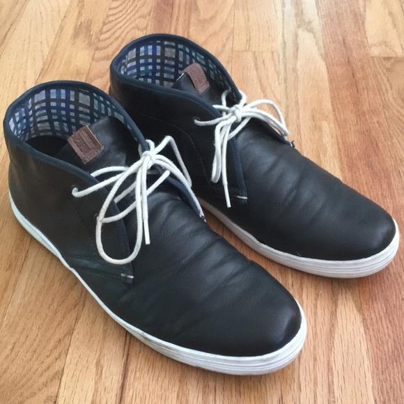 Ben Sherman Black Leather Chukka Shoes